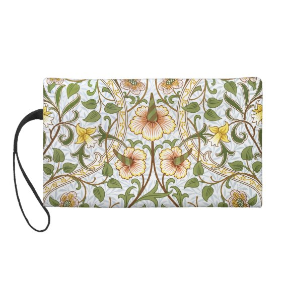 William Morris Daffodil Chintz Pattern Wristlet