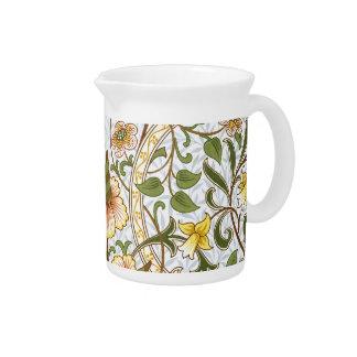 William Morris Daffodil Floral Chintz Pitcher