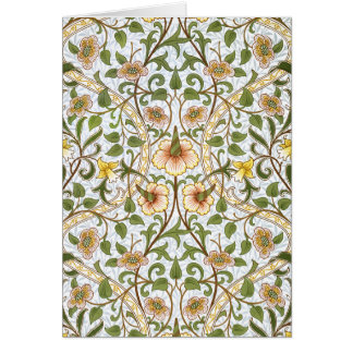 William Morris Daffodil Floral Pattern Note Cards
