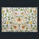 """William Morris Daffodil Floral Pattern Placemat<br><div class=""""desc"""">Add a touch of English country cottage charm to your dining table with cheerful William Morris floral chintz pattern placemats. Light and airy, yet with that subtle Morris sophistication, Daffodil is at once elegant and cheerful, featuring the favorite spring flowers of the English countryside. Gracefully curving leafy branches sport apple...</div>"""