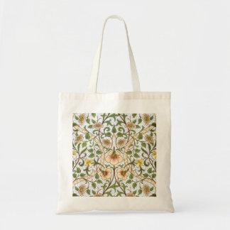 William Morris Daffodil Floral Pattern Tote Bag