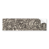William Morris Daffodil Floral Pattern Vintage Bumper Sticker