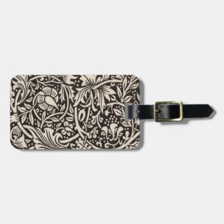 William Morris Daffodil Floral Pattern Vintage Luggage Tag