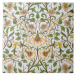 """William Morris Daffodil Pattern Art Tile or Trivet<br><div class=""""desc"""">Add a touch of English country cottage charm to your home with this cheerful William Morris floral chintz pattern art tile -- or transform it instantly into a trivet or cache box. Light and airy, yet with that subtle Morris sophistication, Daffodil is at once elegant and cheerful, featuring the favorite...</div>"""