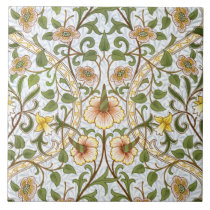 William Morris Daffodil Pattern Art Tile or Trivet