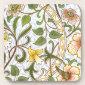 William Morris Daffodil Pattern Cork Coaster Set