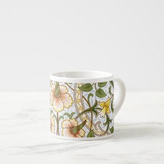 William Morris Daffodil Pattern Espresso Mugs