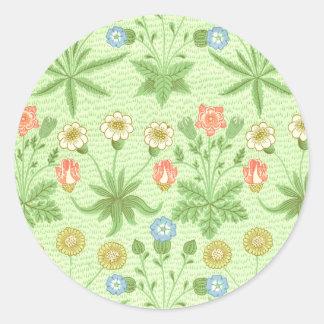 William Morris Daisy Classic Round Sticker