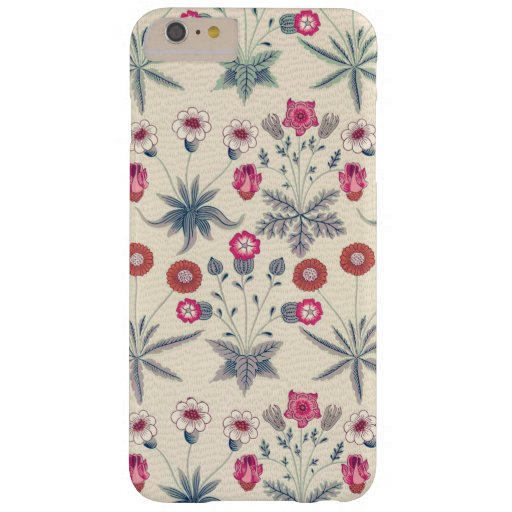 William Morris Daisy Floral Pattern Red Orange Barely There iPhone 6 Plus Case