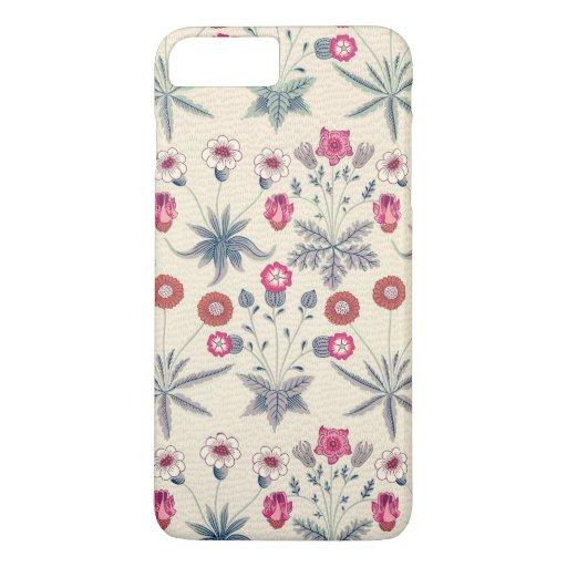 William Morris Daisy Floral Pattern Red Orange iPhone 8 Plus/7 Plus Case