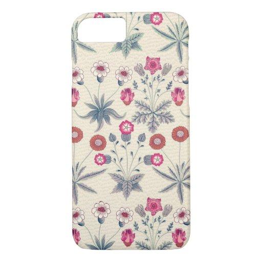 William Morris Daisy Floral Pattern Red Orange iPhone 8/7 Case
