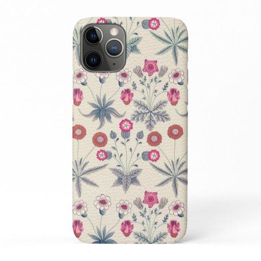 William Morris Daisy Floral Pattern Red Orange iPhone 11 Pro Case