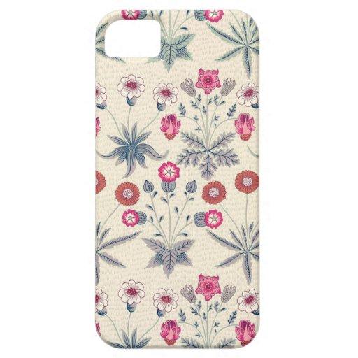William Morris Daisy Floral Pattern Red Orange iPhone SE/5/5s Case