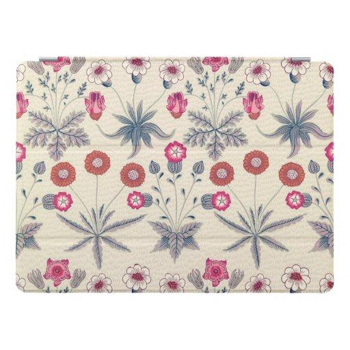 William Morris Daisy Floral Pattern Red Orange iPad Pro Cover