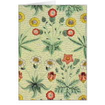 William Morris Daisy Pattern Card