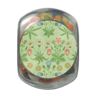 William Morris Daisy Pattern Glass Candy Jar