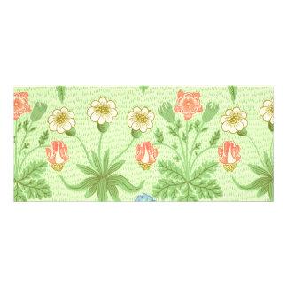 William Morris Daisy Pattern Rack Card