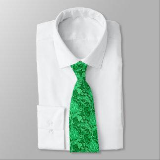 William Morris Damask, Emerald Green Neck Tie