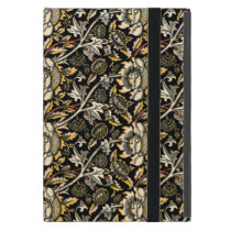 William Morris dark floral arabesque Cover For iPad Mini