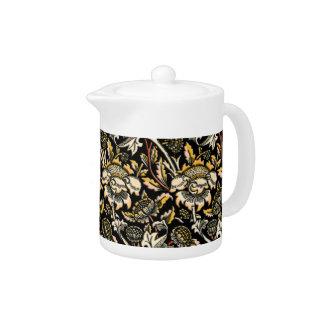 William Morris dark floral arabesque Teapot