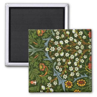 William Morris Design, Blackthorn 2 Inch Square Magnet