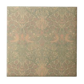 William Morris Dove and Rose Pattern Ceramic Tile