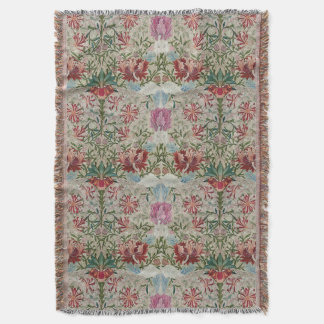 William Morris Embroidery Throw Blanket