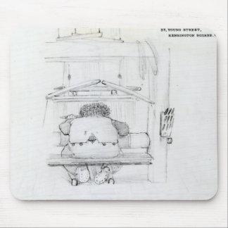 William Morris en su telar, caricatura Tapetes De Ratones