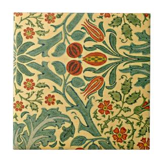 William Morris - estampado de plores del otoño Azulejo Cuadrado Pequeño