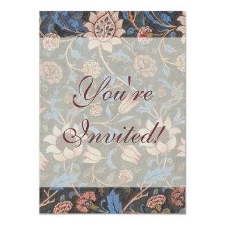 William Morris Evenlode Textile Pattern 4.5x6.25 Paper Invitation Card