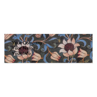 William Morris Evenlode Textile Pattern Double-Sided Mini Business Cards (Pack Of 20)