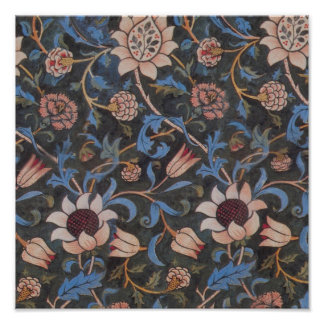 William Morris Evenlode Textile Pattern Poster
