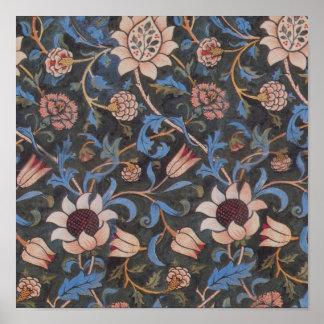 William Morris Evenlode Textile Pattern Poster