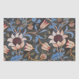 William Morris Evenlode Textile Pattern Rectangular Sticker