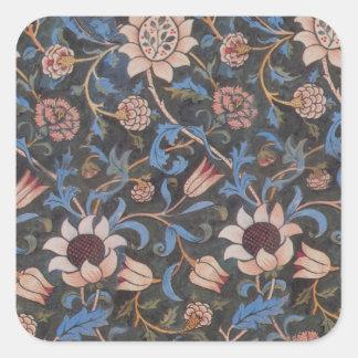 William Morris Evenlode Textile Pattern Square Sticker