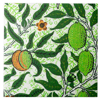 William Morris Exotic Fruit, Lime Green Tile