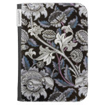 William Morris fabric pattern in black and blue Kindle 3G Covers