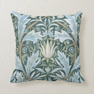William Morris Fine Floral Wallpaper Pattern Throw Pillow