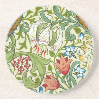 William Morris Fine Garden Lily Wallpaper Coaster