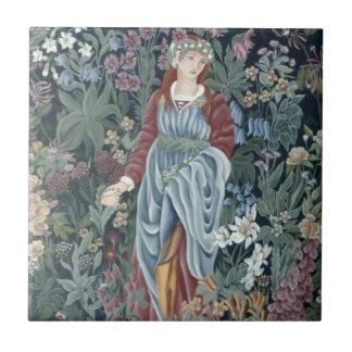 William Morris Flora Small Square Tile