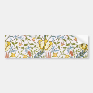 William Morris Flora Vintage Floral Art Nouveau Bumper Sticker