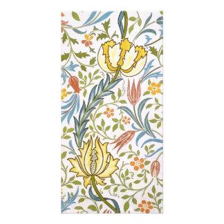 William Morris Flora Vintage Floral Art Nouveau Card