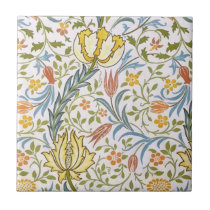 William Morris Flora Vintage Floral Art Nouveau Ceramic Tile