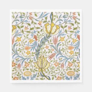 William Morris Flora Vintage Floral Art Nouveau Paper Napkin