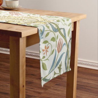 William Morris Flora Vintage Floral Art Nouveau Short Table Runner