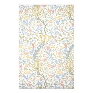 William Morris Flora Vintage Floral Art Nouveau Stationery