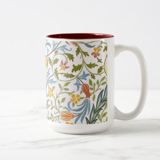 William Morris Flora Vintage Floral Art Nouveau Two-Tone Coffee Mug