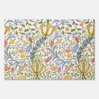 William Morris Flora Vintage Floral Art Nouveau Yard Sign