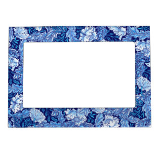 William Morris Floral, Cobalt Blue and White Magnetic Photo Frame