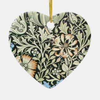 William Morris floral design Ceramic Ornament